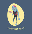 halloween night and zombie vector image