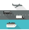 International shipping and delivery vector image vector image