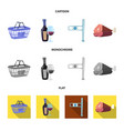isolated object of food and drink sign collection vector image vector image