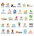 large set of logos social vector image