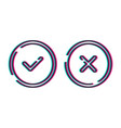 mockup web buttons check mark vector image vector image