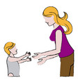 mother and her son child together vector image