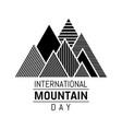 mountain day 0001 vector image