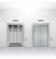 open and close elevator vector image