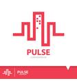 pulse condominium icon symbol vector image vector image