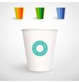 Realistic Paper Cup Template vector image