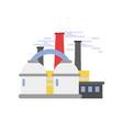 refinery plant industrial building vector image vector image