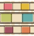 Retro background with film strips vector | Price: 1 Credit (USD $1)