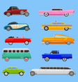 retro car vehicle transport collection retro old vector image