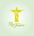 Rio de Janeiro Brazil icon sign poster vector image vector image
