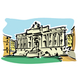 Rome Trevi Fountain vector image vector image