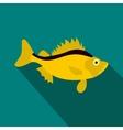Ruff fish icon flat style vector image vector image