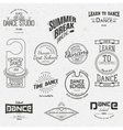School of Dance badges logos and labels for any vector image