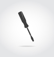 Screwdriver black icon vector image vector image