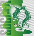scribble soccer poster vector image vector image