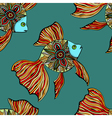 seamless pattern with fishes vector image vector image