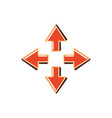 set arrows isolated icon vector image
