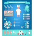 set medical infographics vector image vector image