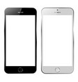 set of blank screens with handphone smartphone vector image