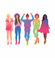 set pretty young women or girl dressed in vector image vector image
