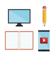set technology education online dsign isolated vector image vector image