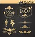set thai art design elements