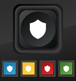 Shield Protection icon symbol Set of five colorful vector image