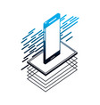 smartphone isometric device digital technology vector image