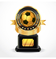 Soccer golden award medals vector | Price: 3 Credits (USD $3)