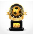 Soccer Golden Award Medals vector image vector image