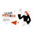 team member - modern colorful line design style vector image