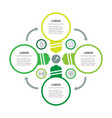 template for circle diagram with stylized vector image