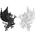 tribal tattoo dragon on white background vector image