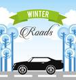 winter roads design vector image