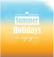 Hello summer design vector image