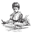 letter writing or write a letter vintage engraving vector image