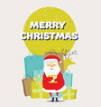 santa claus with a gift bags and deer vector image