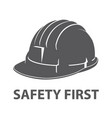 safety hard hat icon symbol vector image