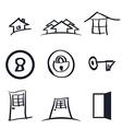 Set of nine realestate logos vector image