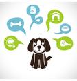 funny cartoon dog vector image