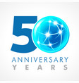 50 anniversary connecting logo vector image vector image