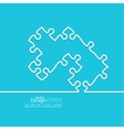 abstract background from pieces puzzle vector image