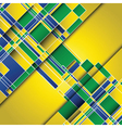 Abstract design background using Brazil flag vector image vector image