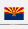 arizona usa state flag az usa vector image vector image