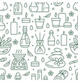 aromatherapy seamless pattern with flat vector image vector image