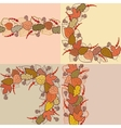 Autumn background with leaves and berries vector image vector image
