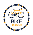 bicycle station plate vector image vector image