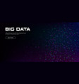 big data visualization a cluster multi-colored vector image vector image