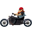 biker on a motorcycle chopper vector image