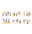 business team winning and achieving set financial vector image vector image